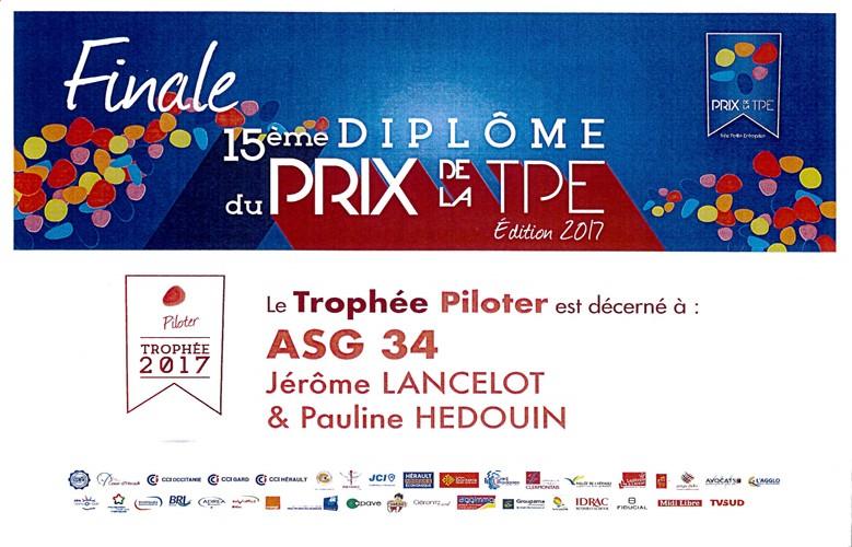 Prix de la TPE Trophée Piloter 2017
