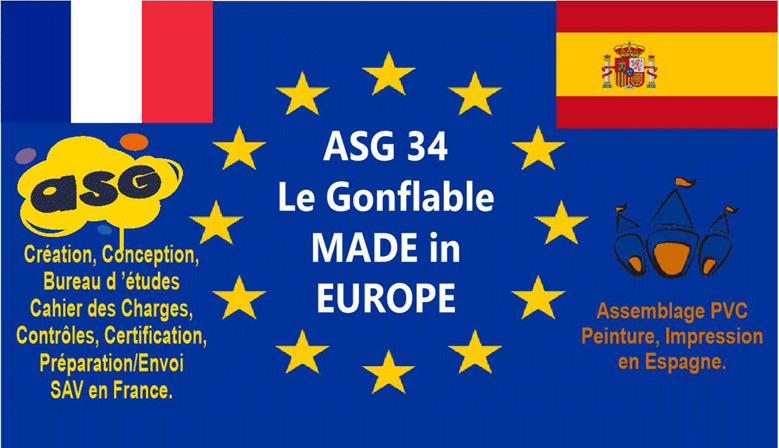 ASG34 Le Gonflable Made in EUROPE