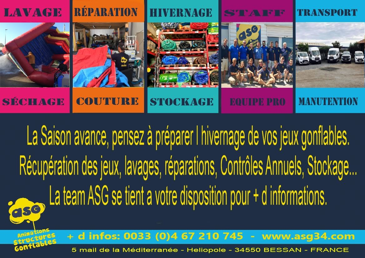 SERVICE HIVERNAGE, REPARATIONS, VENTE, FABRICATION ASG34